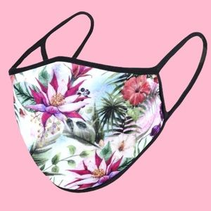 QUICK SHIP Floral Print Nose Mouth Cover Face Mask